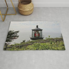 The Red Beacon On Tillamock Bay Rug