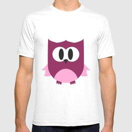 Cute Little Owl; Purple. T-shirt