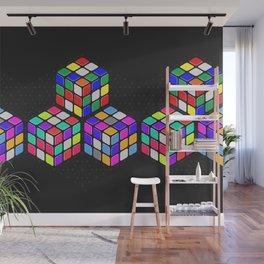 Graphic 947 // Rubik's Cube Isometric Illustration Wall Mural