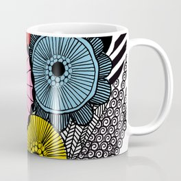 Heart in Flowers, inspired by Marimekko Coffee Mug