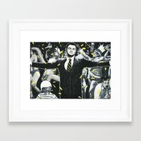 wolf of wall street Framed Art Prints featuring Wolf of Wall Street by ArtCandy Studio