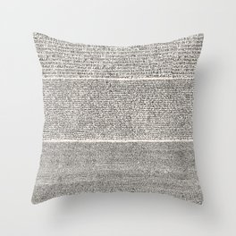 The Rosetta Stone // Antique White Throw Pillow
