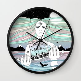 Journey to A Greater Existence (Your Life On Your Hands) Wall Clock