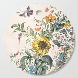 Circle of life- floral Cutting Board