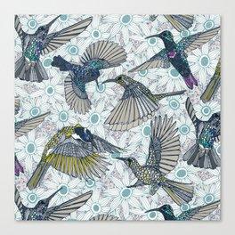 hum sun honey birds blue Canvas Print