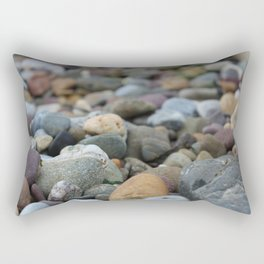 Stones on the Beach Rectangular Pillow