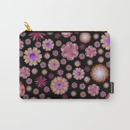flowers on dark Carry-All Pouch