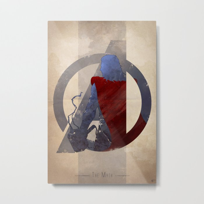 Avengers Assembled: The Myth Metal Print