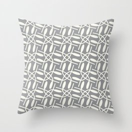 Banded Together - Geometric Ultimate Gray Throw Pillow