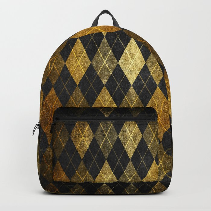 Black and gold geometric abstract pattern II- Luxury design for your home Backpack