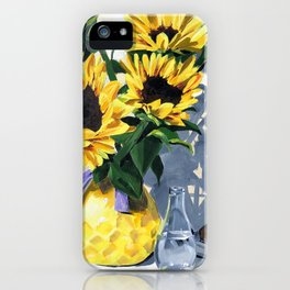 Painted Sunflowers by Amy Herman iPhone Case
