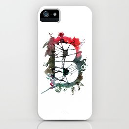 Watercolor hand drawn the letter B with flower pattern. ABC. Monogram iPhone Case