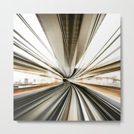 fast train in tokyo Metal Print