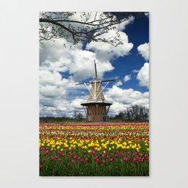 The deZwaan Dutch Windmill on Windmill Island in Holland Michigan No.80 Canvas Print