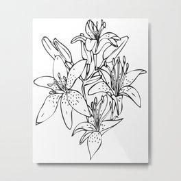 Day Lilies #2 Metal Print