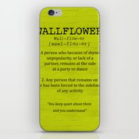 the perks of being a wallflower iPhone & iPod Skins featuring Wallflower by the perks of being a wallflower