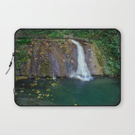 Autumn leaves in the waterfall Laptop Sleeve