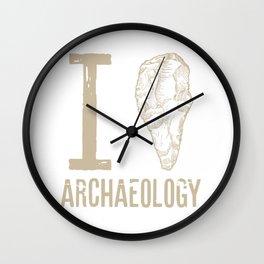 I love archaeology #2 Wall Clock