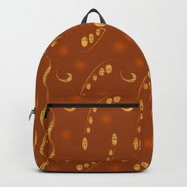 Antiqued Musical Notes Golden Honey Locust Design Backpack