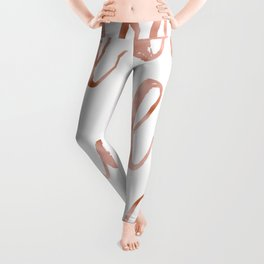 All you need is love - rose gold and hearts Leggings