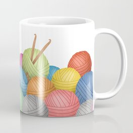 Two Crochet Hooks And A Lot Of Yarn Coffee Mug