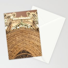 Entrance of The Reims Cathedrale Stationery Cards