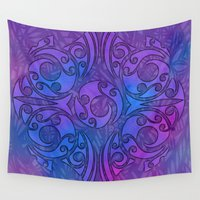 maori Wall Tapestries featuring Maori/Polynesian Style by Lonica Photography & Poly Designs