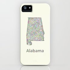Alabama map iPhone (5, 5s) Slim Case