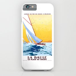 france 1931 LA BAULE LA PLAGE DU SOLEIL.Charles Hallo iPhone Case