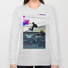 Let's Scoot! - Stunt Scooter at Skate Park Long Sleeve T-shirt