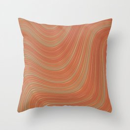PEACHES gradient pattern of stripes in shades of peach Throw Pillow