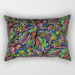 Abstract geometric waves pattern Bright colors Rectangular Pillow