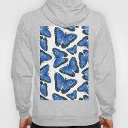 Blue morpho butterfly pattern design Hoody