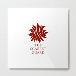 The Scarlet Guard Red Queen Metal Print