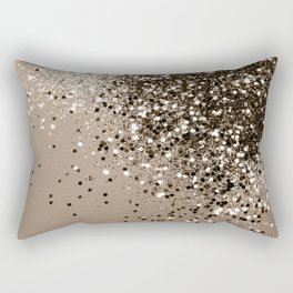 Sparkling Sepia Lady Glitter #1 #shiny #decor #art #society6 Rectangular Pillow