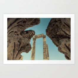 Temple of Hercules in the Citadel (Amman, Jordan) Art Print