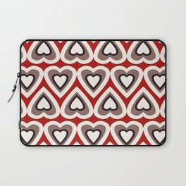 Strawberry and Chocolate Cream Love Hearts Laptop Sleeve
