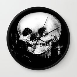 All Is Vanity: Halloween Life, Death, and Existence Wall Clock