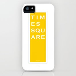 Times Square - NYC - Yellow iPhone Case