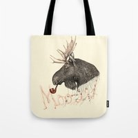 moose Tote Bags featuring moose by dogooder