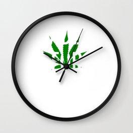 Faded For Life Shirt Funny Smoke Weed Shirt Marijuana Shirt Wall Clock