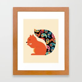 Paisley Squirrel Framed Art Print