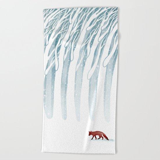 Winter Storm Beach Towel