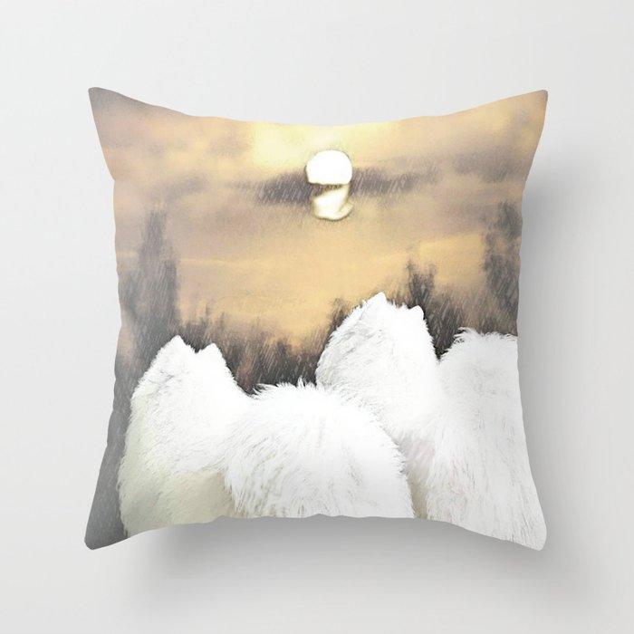 """"""" Moon Watch """" Throw Pillow"""