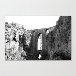 Black White Bridge Architecture Canvas Print