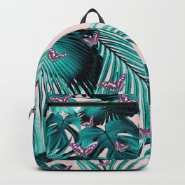 Tropical Unicorn Butterfly Jungle Leaves Pattern #1 #tropical #decor #art #society6 Backpack