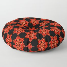 Red Christmas Star Mosaic Pattern Floor Pillow