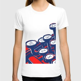 Typewriter keyboard in retro style with the key Help me T-shirt