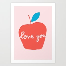 Apple Love You Art Print