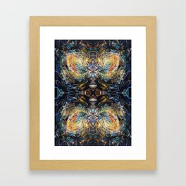 Glass Nebula Reflected Framed Art Print